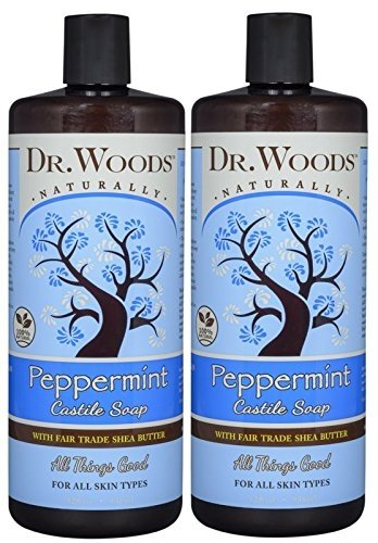 Dr. Woods Pure Peppermint Liquid Castile Soap with Organic Shea Butter, 32 Ounce - Vitamins Emporium