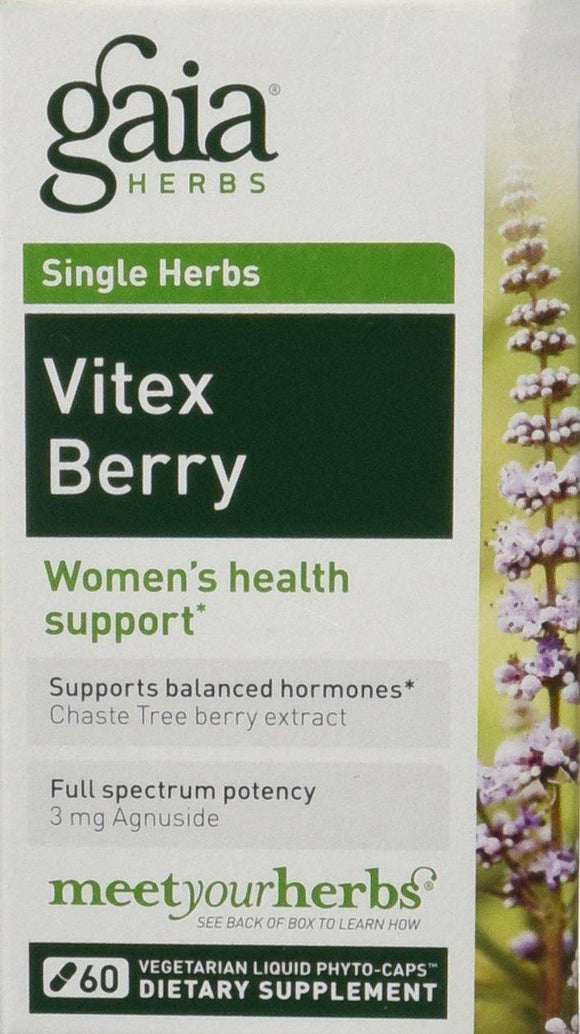Gaia Herbs Vitex Berry Liquid Phyto-Capsules, 60 Count (Pack of 2) - Vitamins Emporium