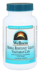 SOURCE NATURALS Wellness Herbal Resistance Liquid Vegetable Capsule, 120 Count