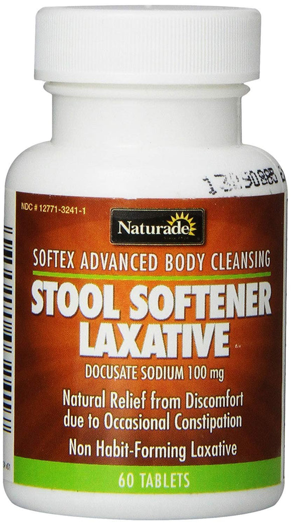 Naturade Stool Softener (Softex) Laxative Tablets, 60-Count Bottles - Vitamins Emporium