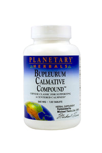 Planetary Herbals Bupleurum Calmative Compound, 560 mg, Tablets, 120 tablets - Vitamins Emporium