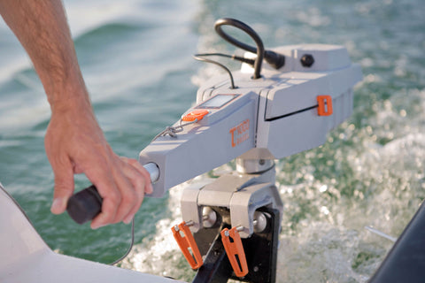 Torqeedo Travel 1003C electric outboard motor on the water