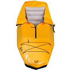 K-PAK foldable kayak in yellow from the front sold by Wee Boats