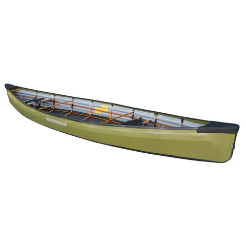 PakCanoe green foldable canoe from Pakboats