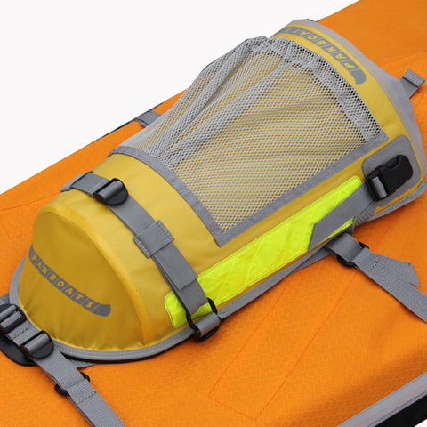 PakPod waterproof kayak deck bag installed on deck