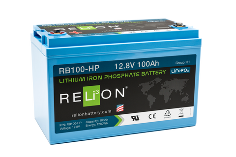 RB100-HP RELiON lithium battery 100Ah 12V