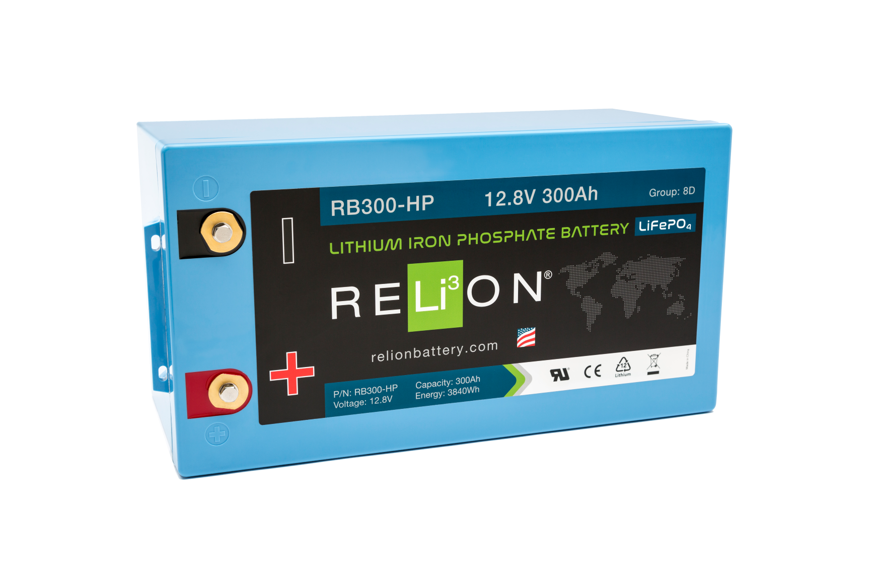 RB300-HP RELiON lithium battery 300Ah 12V
