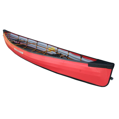 PakCanoe red foldable canoe from Pakboats