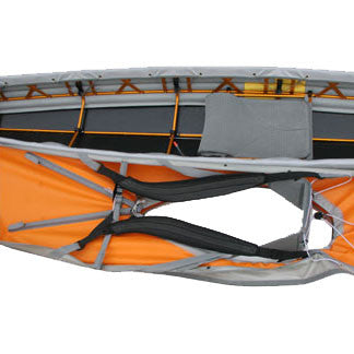 Hip pads and thigh straps for folding kayaks from Pakboats