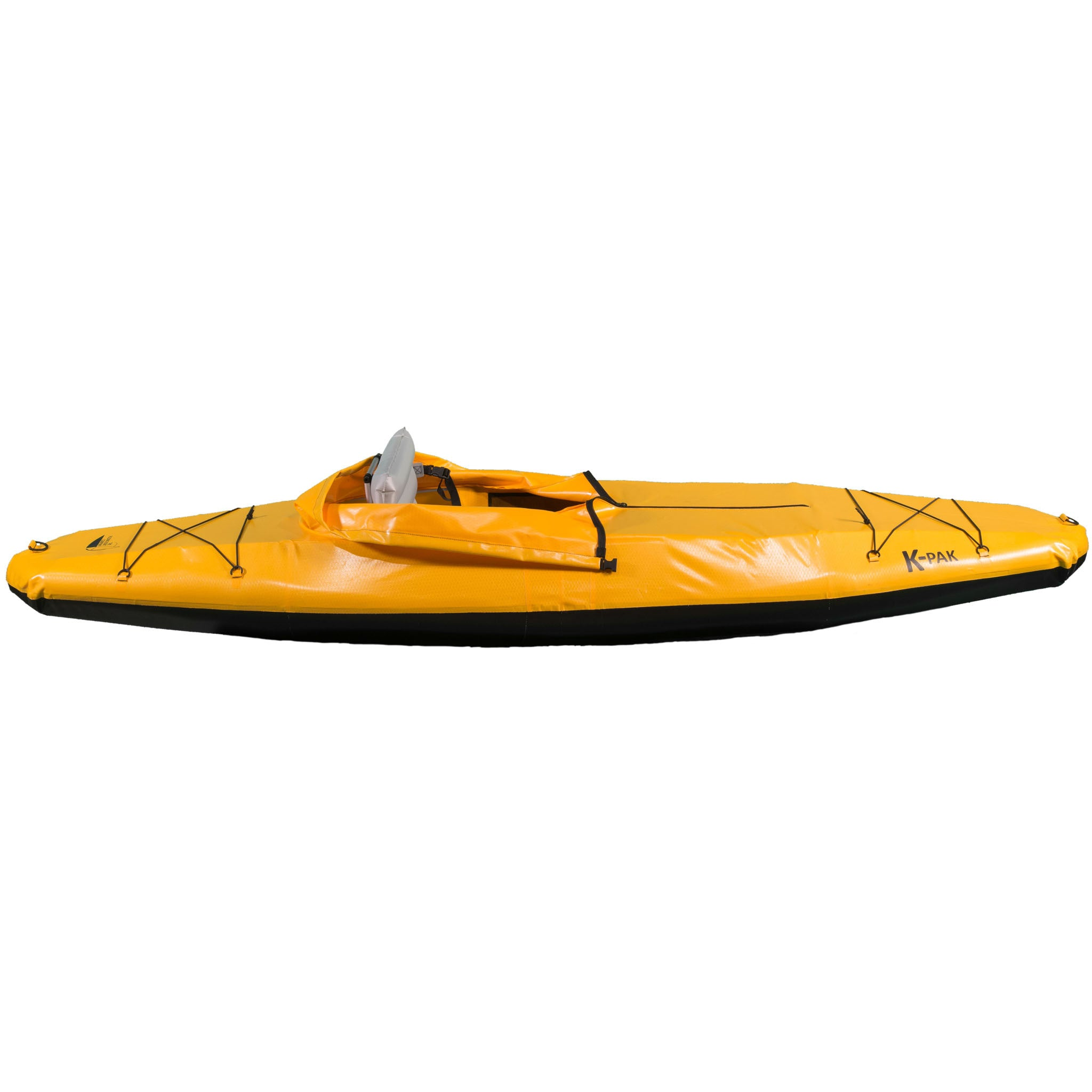 K-PAK foldable kayak in yellow from the side sold by Wee Boats