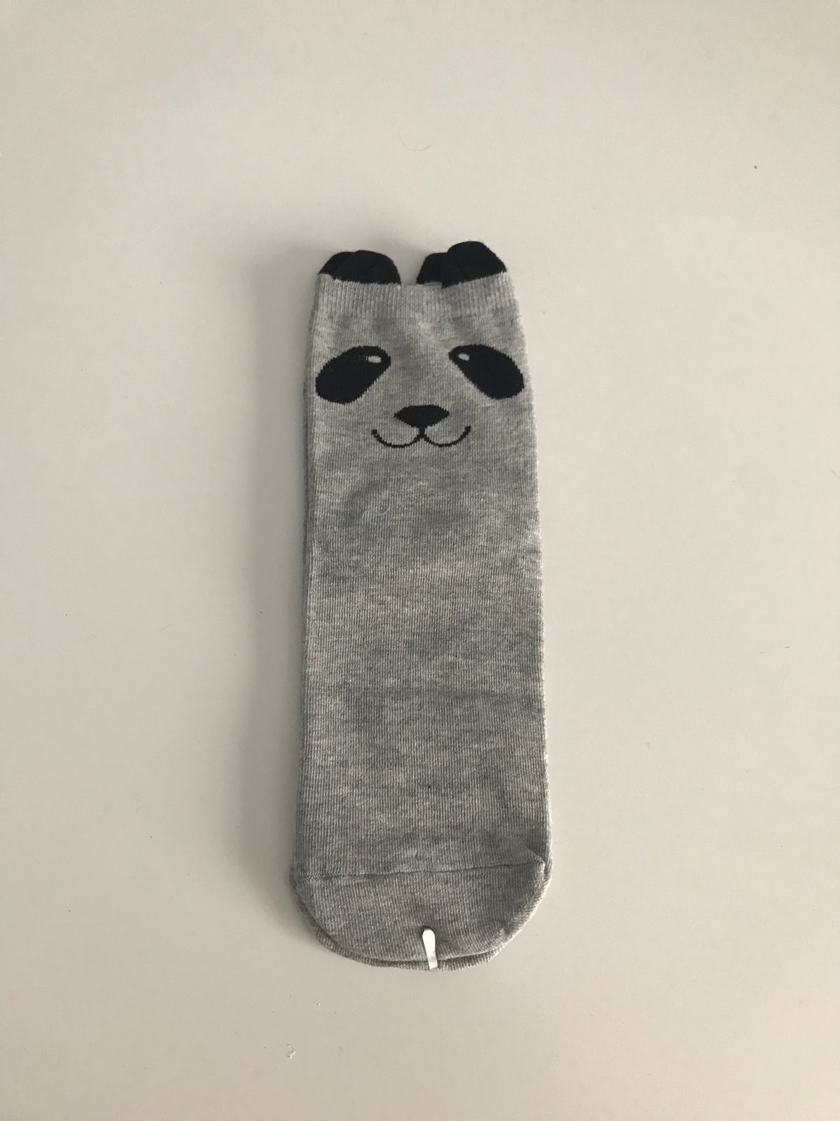 Grey Panda Ankle Socks