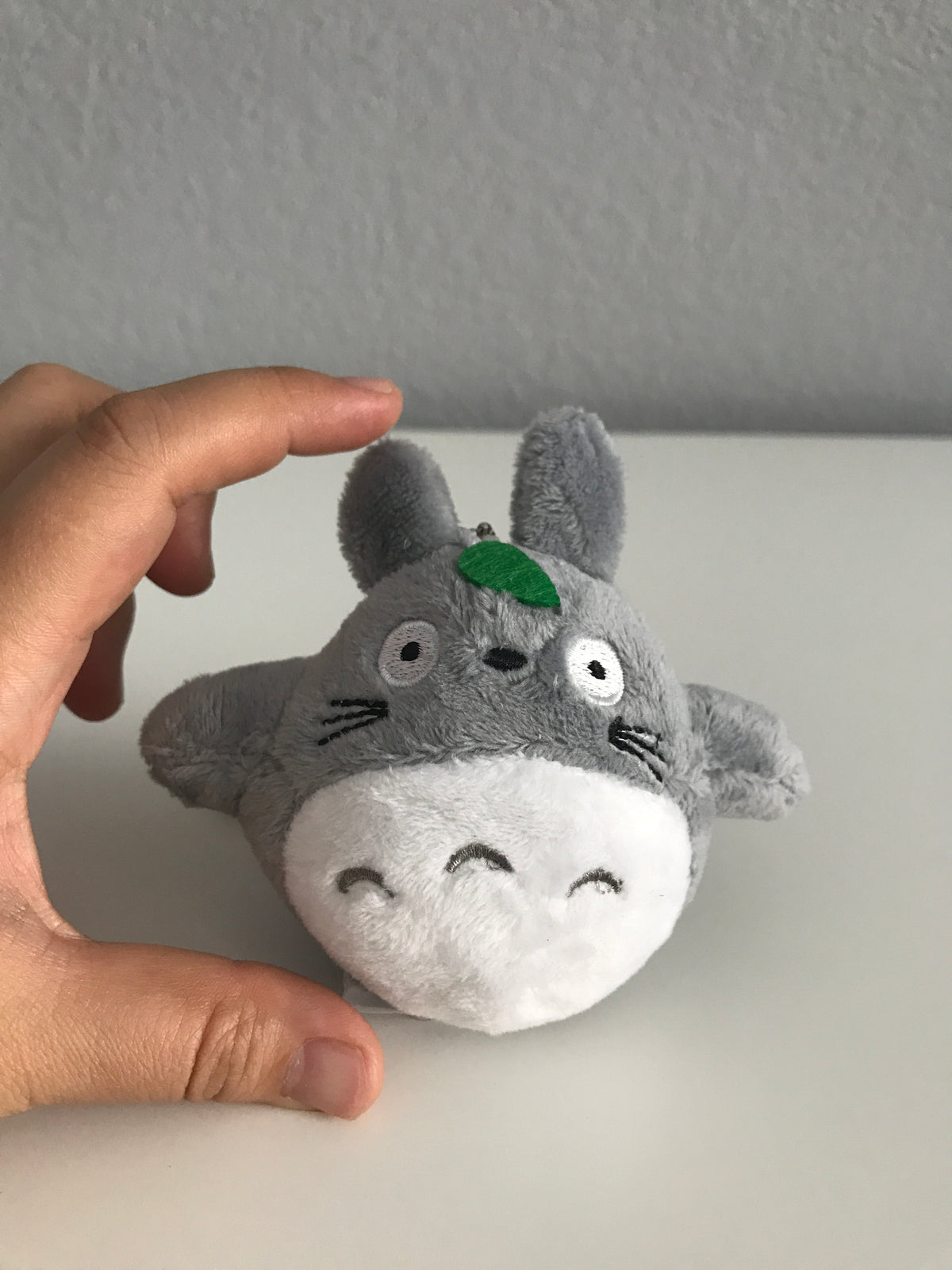 Mini Totoro Plushie with Leaf