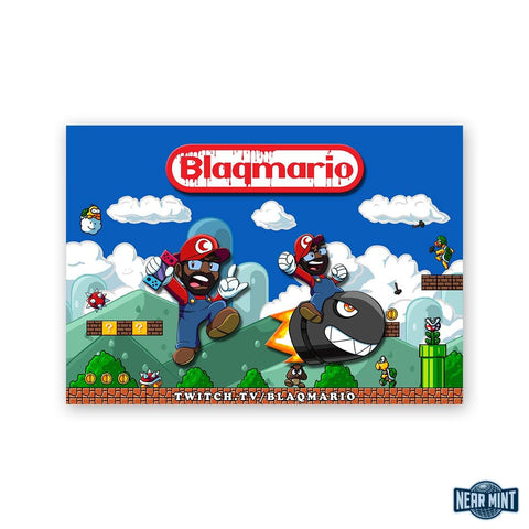 Buy Now – Blaqmario Pin Pack – Comic & Gamer Merch – Near Mint