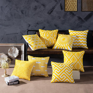 Geometric Yellow Embroidered Collection