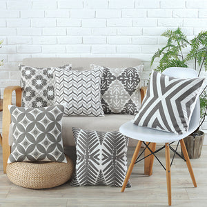 Geometric Gray Embroidered Collection