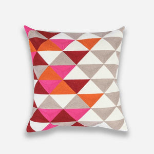Embroidered Geometric Pillow Cases Collection