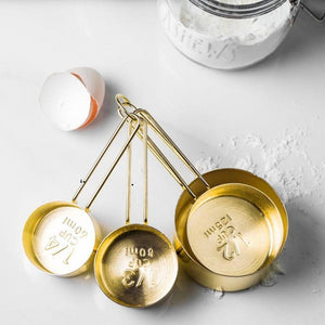 Oro Golden Measuring Cups Set
