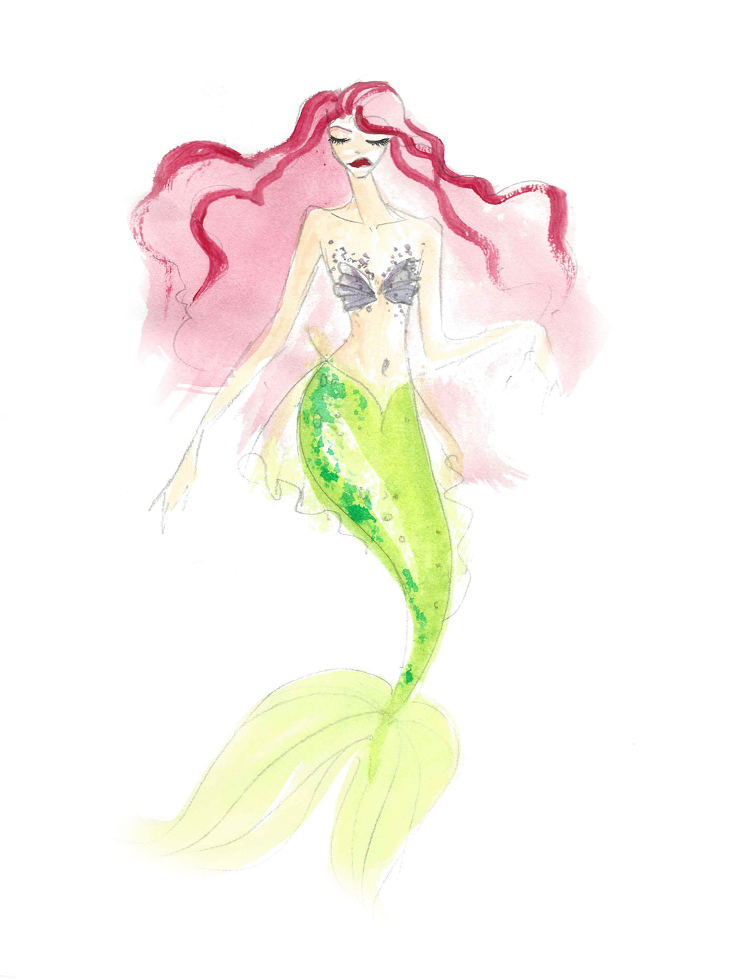 Ariel Mermaid Print-Entry