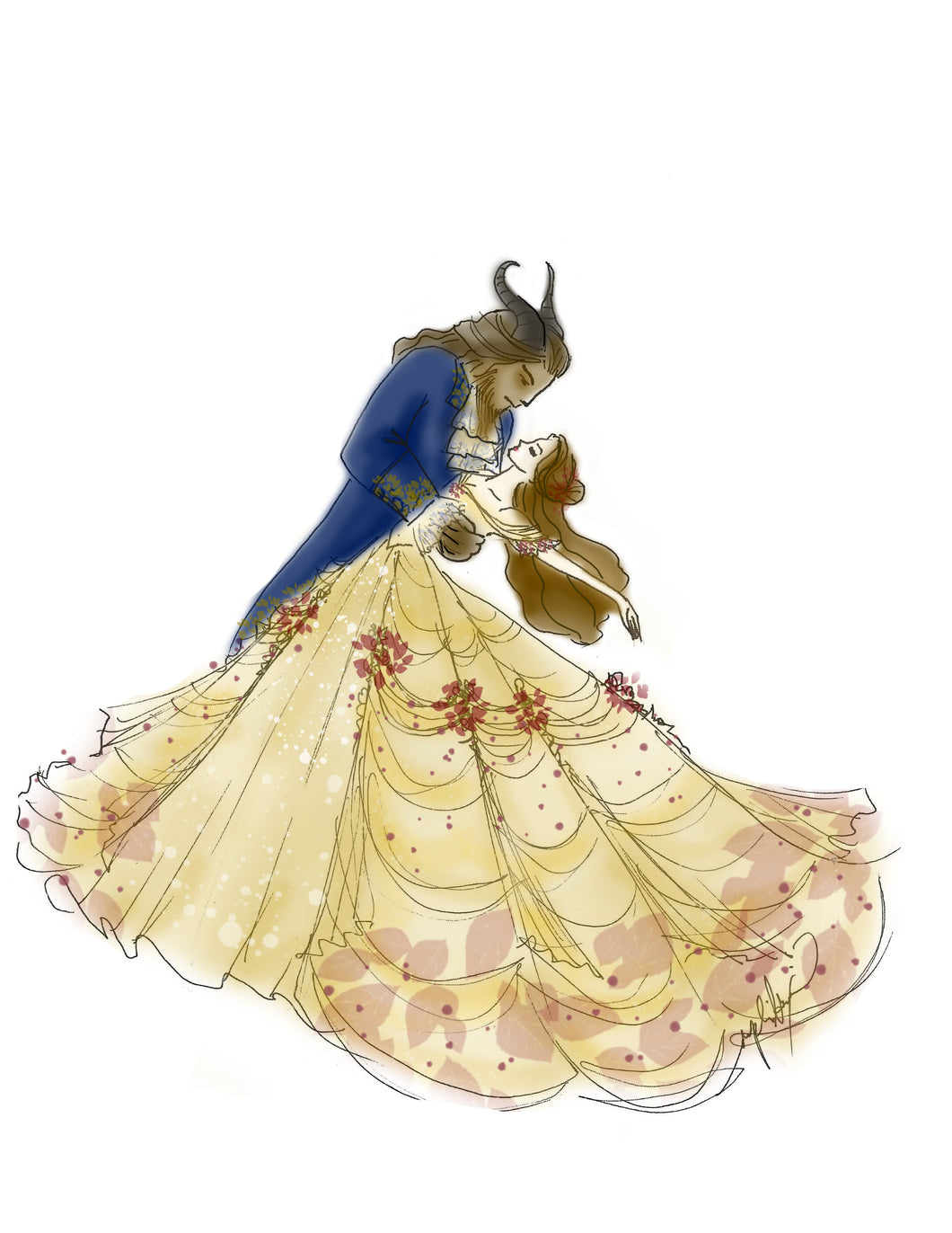 Beauty and the Beast Print Entry