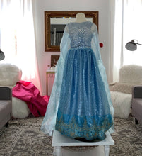 Ice queen inspired transformation dress