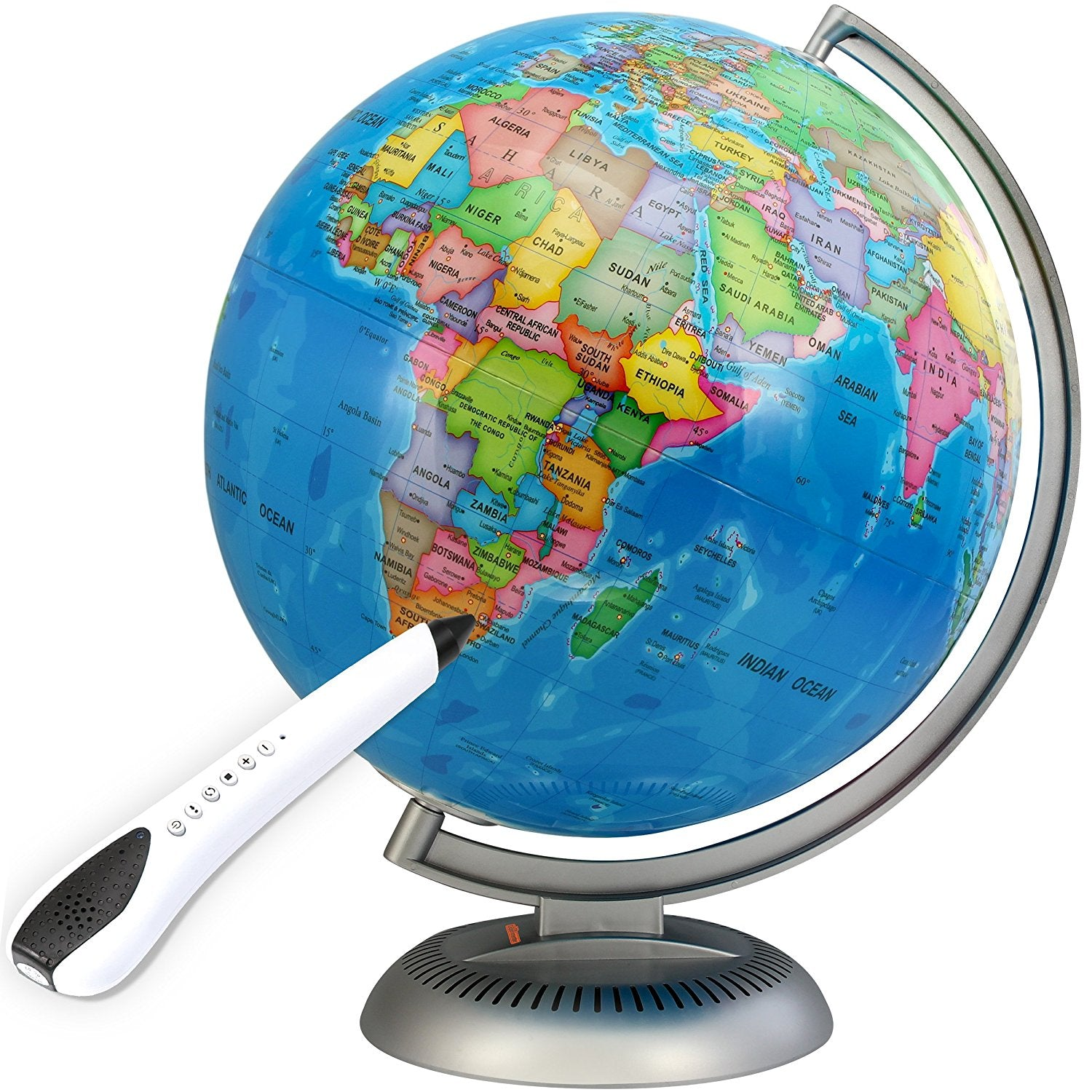 Illuminated interactive globe with talking smart pen 12 world illuminated interactive globe with talking smart pen 12 gumiabroncs Image collections