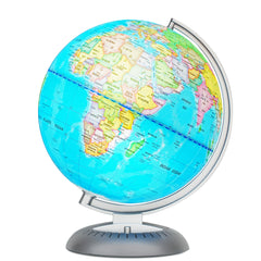 Illuminated World Globe for Kids with Stand, Built in LED for Illuminated Night View