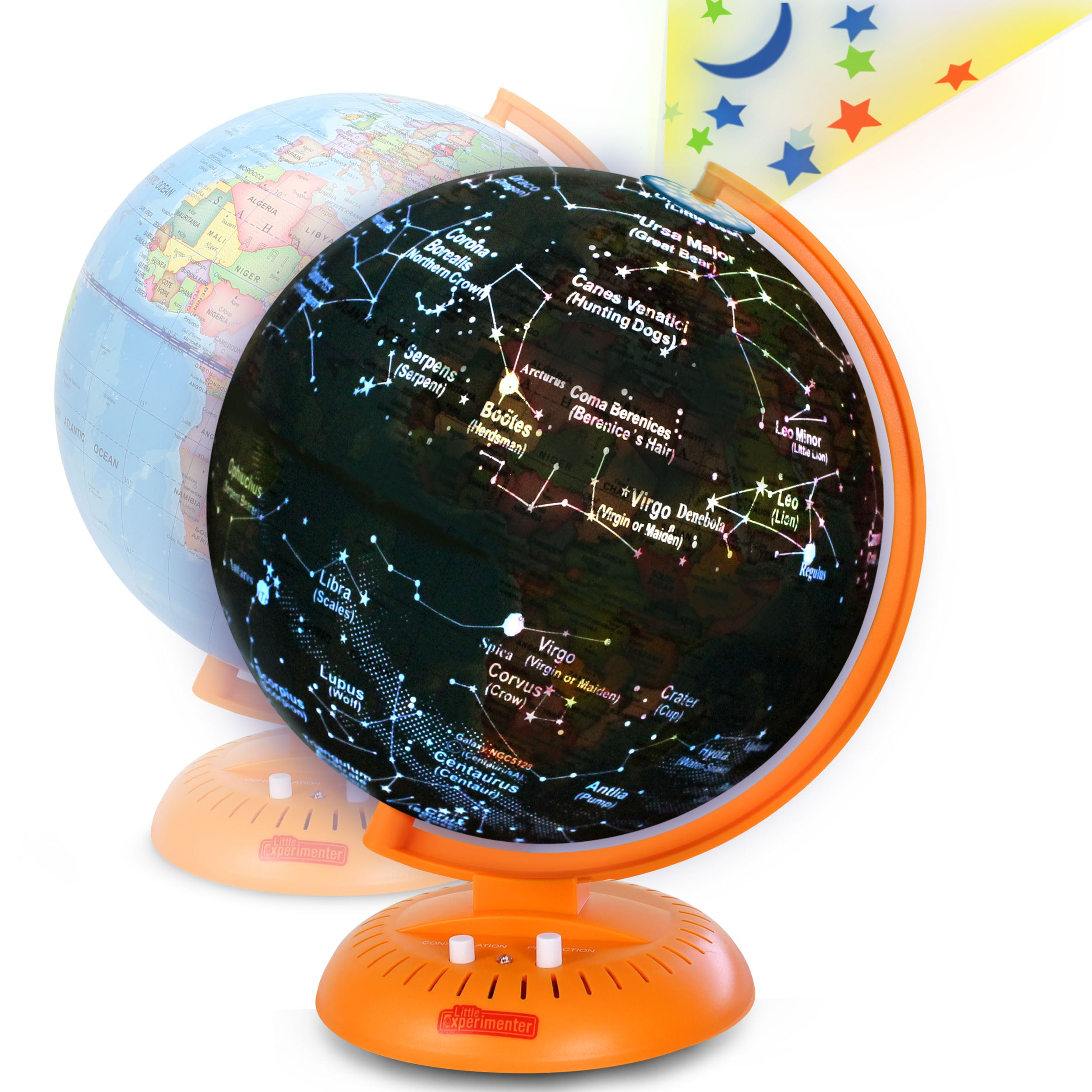 Globe For Kids 3 In 1 World Globe With Illuminated Star Map And Built Littleexperimenter