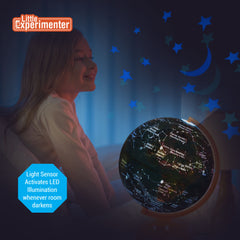 Globe for Kids: 3-in-1 World Globe with Illuminated Star Map and Built-in Projector