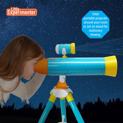 2-in-1 Kids Projector + Telescope with Collapsible Tripod - Great Space Exploration Set!