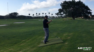 Adjustments When Striking On An Uphill Lie