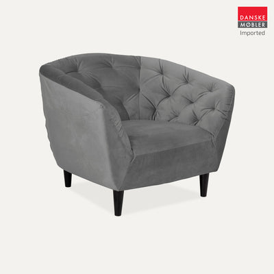Ria Grey Velvet Occasional Chair