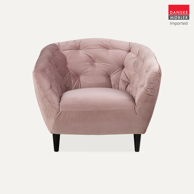 Ria Rose Velvet Occasional Chair