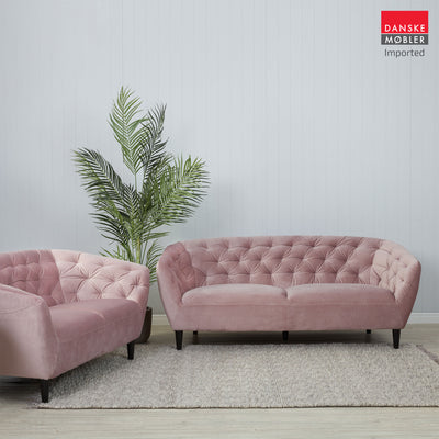 Ria Rose Velvet 3 Seater Sofa