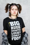Big Huge Gigantic Lucky Rabbit's Foot Women Relaxed Slub Tee