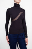 Insert Mesh Turtleneck For Charity - Arianne Elmy