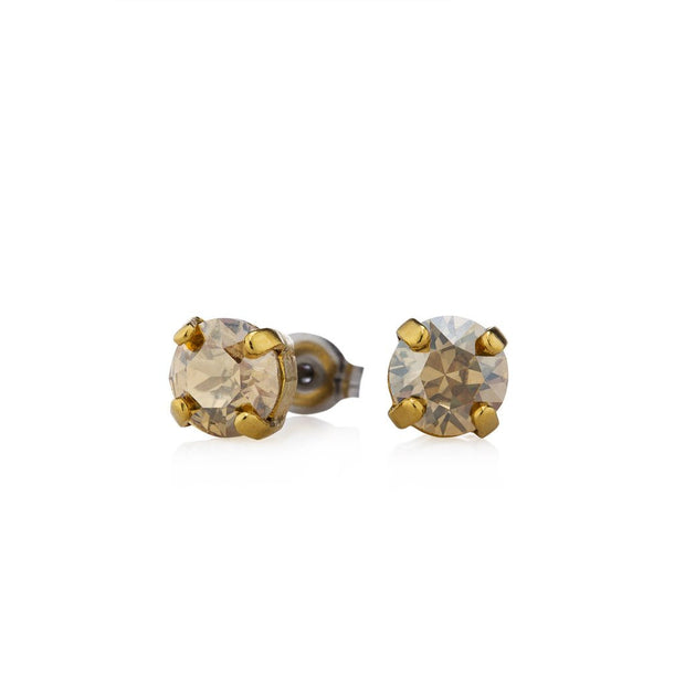 Swarovski Crystal Stud Earrings (Champagne)