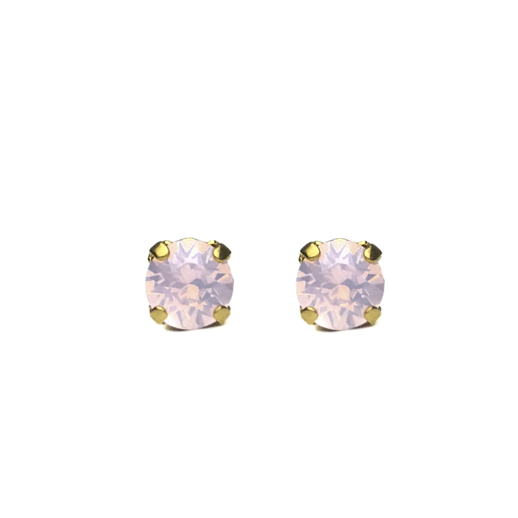 Swarovski Crystal Stud Earrings (Blush)
