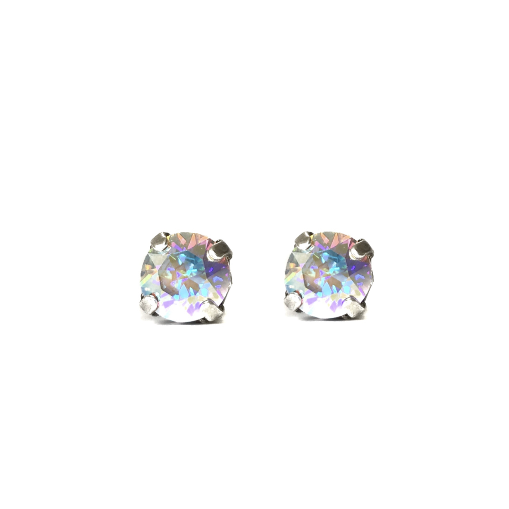 Swarovski Crystal Stud Earrings (Confetti)