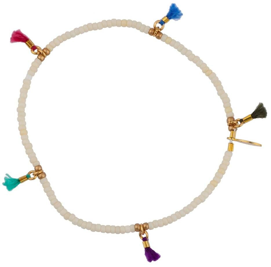 Tassel-Trim Stacking Bracelet (Purple)