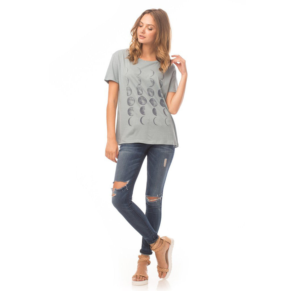 Moon Phases Boyfriend Tee