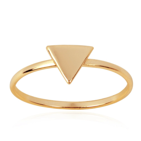 Triangle Geo Ring (Yellow Gold)