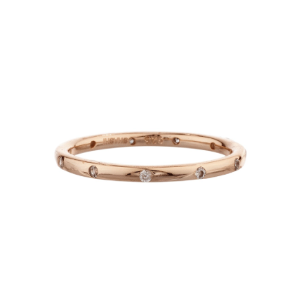 Pavé Dotted Ring (Rose Gold)