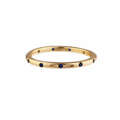 Pavé Dotted Ring (Yellow Gold Sapphire)