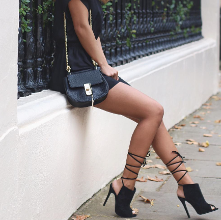 Iris Black Suede Leather Booties-luxofchic-luxofchic