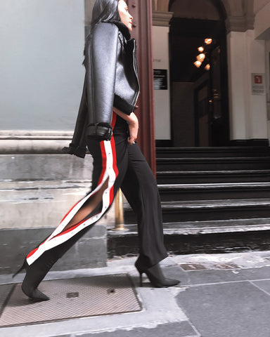 Georgie Black and Red Pants-luxofchic-luxofchic