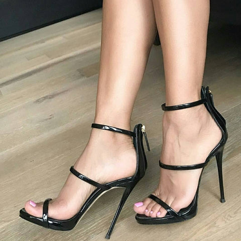 Ale Black Sandals - - Shoes