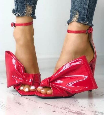 Leani Red Patent Leather Sandals-luxofchic-luxofchic