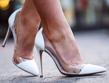 Leana White Patent Leather Pumps-luxofchic-luxofchic