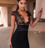 Adelyn Black Lace Dress-luxofchic-luxofchic