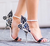 Angel Black & White Wings Sandals-luxofchic-luxofchic